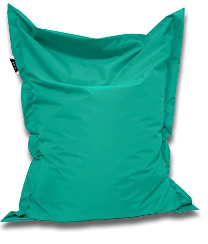 Patchhome Sitzsack und Sitzkissen Eckig - Türkis - 200x145cm - in 25 Farben und 7 versch. Größen