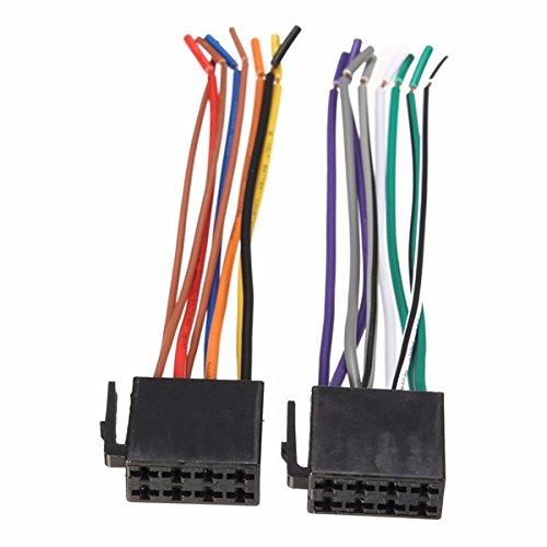 NICOLIE Cable De Conector Adaptador De Arnés De Cables Universal Conector De Cableado De Radio Enchufe Compatible con El Sistema Estéreo del Coche