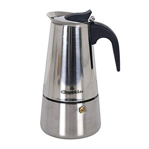 Quttin S2202073 Cafetera, 18/8 Stainless Steel