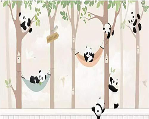 MAZF Made Large 3D Wallpaper Hand Painted Woods Cartoon Animals Children's Room Background Wall 3D Wallpaper tapeta