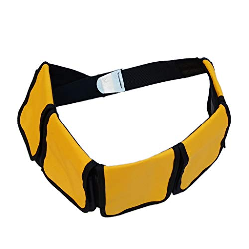 Toygogo Bleigurt Tauchen mit Taschen Bleigürtel Gewichtsgurt Taschenbleigurt - 5 Tasche