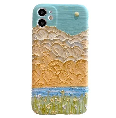 Funda De Teléfono Con Diseño De Flores Para IPhone Carcasa De Silicona Con Diseño Artístico De Flores Para IPhone 12 11 Pro Max XS MAX XR X 12 Mini 7 8 Plus 7Plus ( Color : B , Size : For iphone XR )