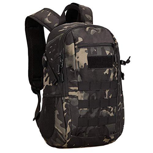 Selighting 12L/20L Militär Rucksack Wasserdichter Taktischer Wanderrucksack für Camping Trekking Outdoor (Camouflage schwarz-12L)