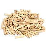 1 paquete de pasadores de pasadores de madera acanalados redondos para carpintería, juego de pasadores de puntos centrales de pasador de cromo de madera para carpintería(L)