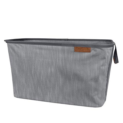 CleverMade Collapsible Fabric Laundry Basket LUXE - Foldable Pop Up Storage Organizer - Space Saving Hamper with Carry Handles, Grey, Extra Large, One Size