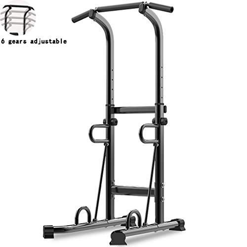 HYJBGGH Power Tower Power Tower Stazione,Dip Station Parallele Trazioni, Barra Ausiliaria per Allenamento Orizzontale per Bambini,Dispositivo Fitness Indoor Multifunzionale (Color : Black)