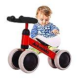 Bebé Bicicleta de Equilibrio, Andar en Bicicleta en adelante, los niños de Bicicletas, Bicicletas de 4 Ruedas de Deslizamiento, Triciclo Niño Walker Color Rojo 1-3 años (Azul) zcaqtajro