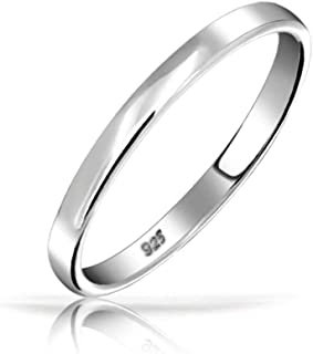 Personalized Minimalist Simple Sterling Silver Couples Wedding Band Ring Thumb Ring For Women 3MM Custom Engraved
