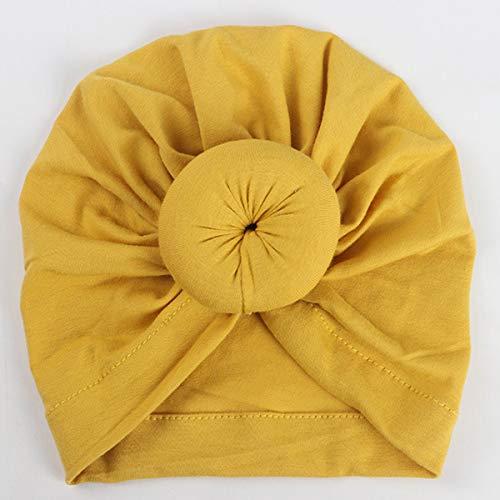 DERCLIVE 1 Stück Kinder Baby Mädchen Turban Blumenkopf Wrap Verstellbare Indien Hut Baumwollkappe 12 Farben Zur Auswahl