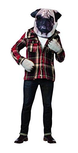 Mops Kostüm-Set mit Maske und Pfoten Hundekostüm für Erwachsene
