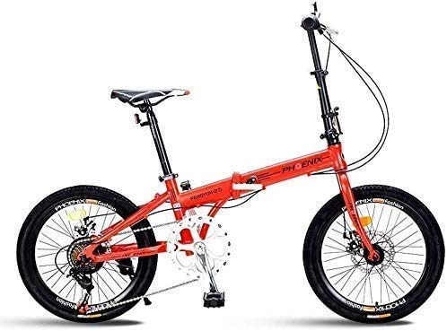 CENPEN Bicicleta Plegable de 20 Pulgadas 7 Velocidad ?? Hombres y de Mujeres de Bicicletas Ligera niños Bicicletas Plegables