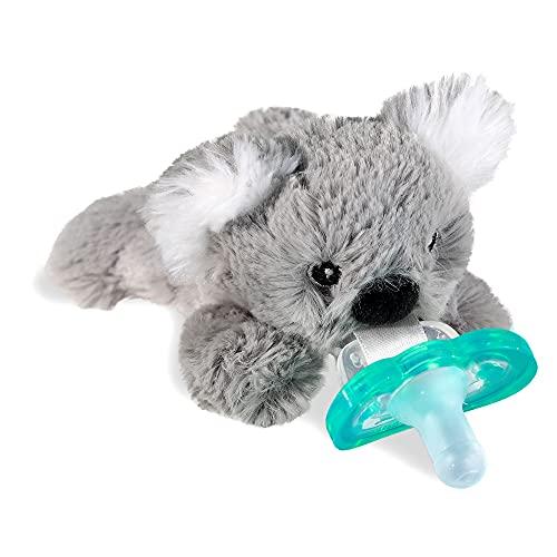 RaZbaby RaZbuddy JollyPop Pacifier Holder w/Removable Baby Pacifier - 0m+ - BPA Free - (Koala)