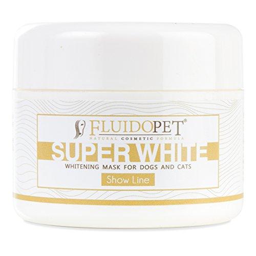 fluidopet – Super White Masque blanchissant occultant pour chiens et chats – Show Line 100 ml.