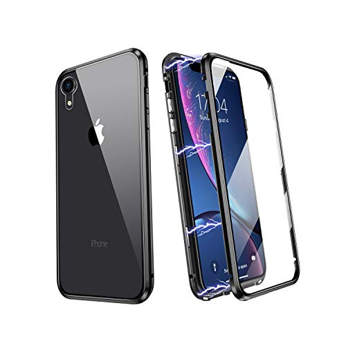 iPhone XR Magnetic Case, JSTBOX Magnetic Adsorption Case 360 Full Body Case...