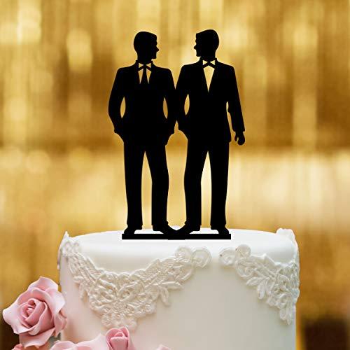 Dankeskarte.com Cake Topper Mr&Mr - Figura para decoración de tarta de bodas,...