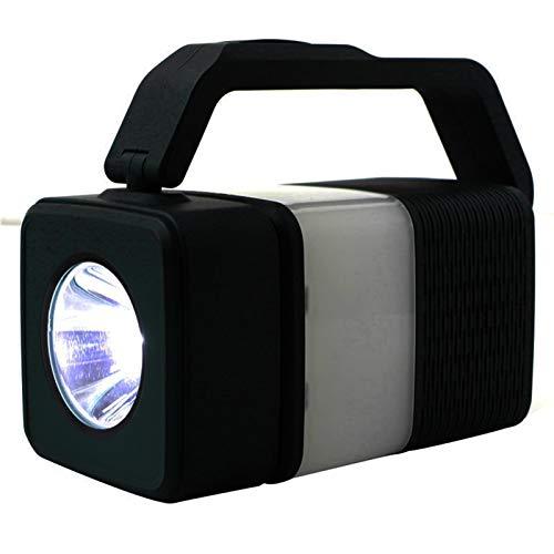 Altavoz Bluetooth 2 en 1 y lámpara de mesa, portátil, compacto y inalámbrico, con luces LED, rotación de 360 grados, luz nocturna en la cama, recargable por USB