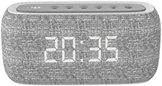 HAVIT MX801 Bluetooth Speaker with Radio and Clock - Grey
