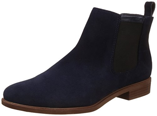 Clarks Taylor Shine, Damen Chelsea Boots, Blau (Navy Suede), 41 EU (7 UK)