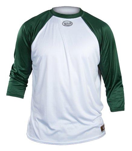 Louisville Slugger Baseball Undershirt 3/4 Sleeve - Forest Green - Youth X-Large