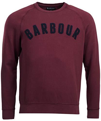 Barbour Prep Logo Crew Merlot-S Sweatshirt voor heren