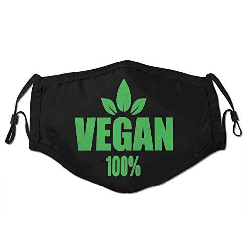 Ha99y Vegane 100% Unisex Wind- und staubdichte Mundschutz, Face Shield mit verstellbarem Gummiband