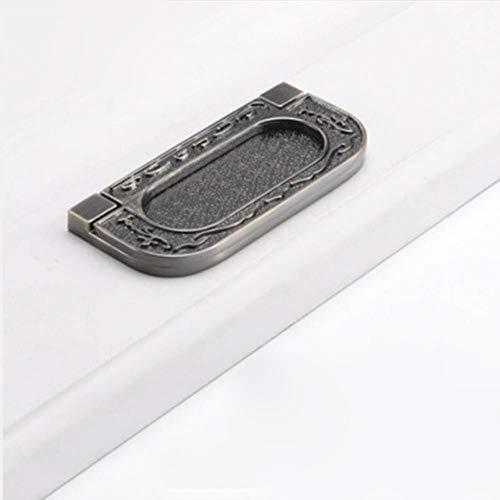 Manijas de puerta ocultas Tatami de aleación de zinc Empotrado Tirador de puerta corredera Manija de gabinete de dormitorio Manija de muebles Herrajes