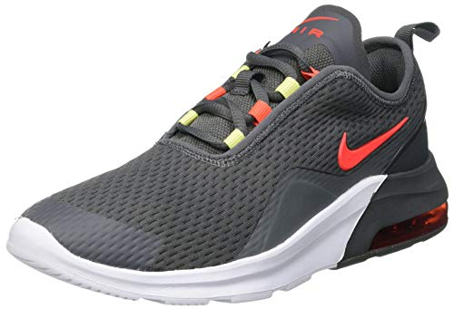 Nike Air Max Motion 2 (GS) Sneaker, Iron Grey/Bright Crimson-Limelight-White, 40 EU