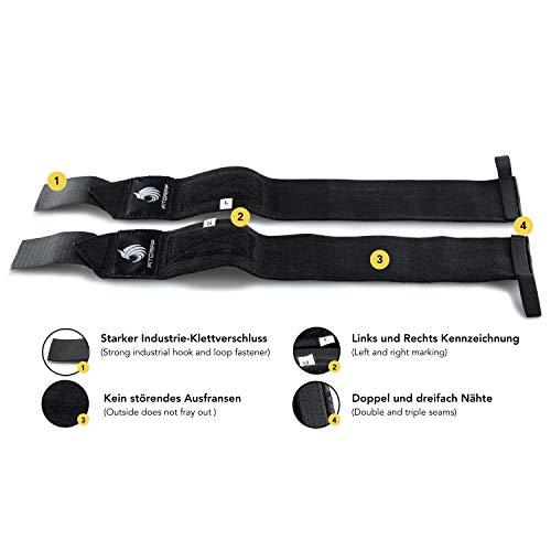 Handgelenkbandagen – für Kraftsport, Bodybuilding, Krafttraining, Crossfit & Fitness – für Damen und Herren – zum Schutz der Handgelenke beim Training – von Fitgriff - 5