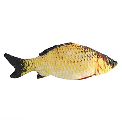 MAGT Almohada en Forma de pez, Creative 3D Carp Fish Shape Simulation Cojín Throw Pillow Niños Regalo Juguete Sofá Decoración para el hogar(60CM)