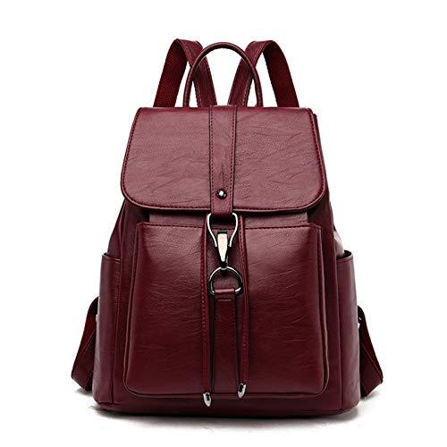 Women Backpack Fashion Rucksack PU Leather Anti-theft Ladies Backpacks for Ladies School Bag