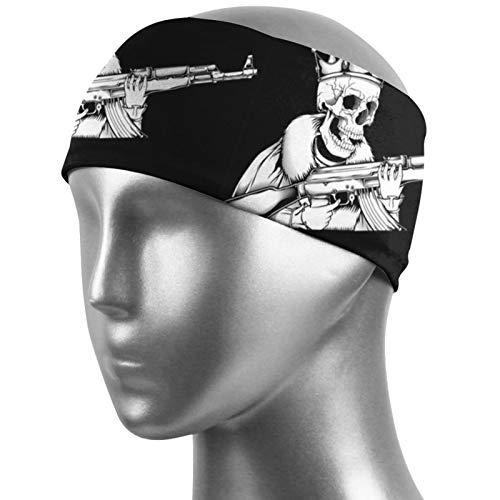 Cráneo King Manejo Pistola Unisex Deportes Sudadera Humedad Antideslizante Mejor Para Deportes, Entrenamiento, Gimnasio Yoga Running