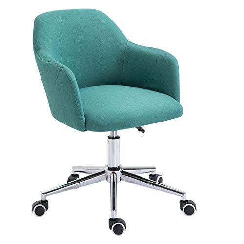 LIUDINGDING-Fauteuil, CHAISE informatique des ménages Chaise simple bureau peut soulever Nordic tissu Chaise de bureau Chaise pivotante Siège (Color : Green)