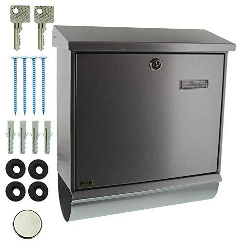 BURG-WÄCHTER, Briefkasten-Set mit integriertem Zeitungsfach, A4 Einwurf-Format, Verzinkter Stahl, Comfort-Set 91300 Si, Silber - 5