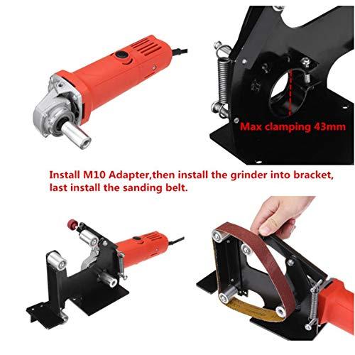 SHIJING haakse slijper bandschuurmachine bevestiging metaal, hout, schuurband adapter gebruiken 100 haakse slijpers TP-0168