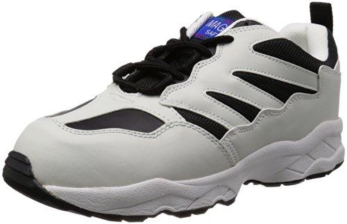 [マルゴ] 安全靴 作業靴 鋼製先芯 通気 耐油 踵衝撃吸収 JSAA A種 マジカルセーフティー 600 BK/WH 30 cm