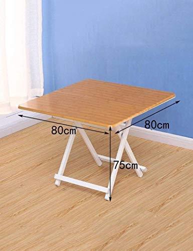 HYY-YY Mesa de comedor para el hogar, portátil, plegable, cuadrada, mesa de comedor, mesa de niños, 80 x 80 x 75 cm