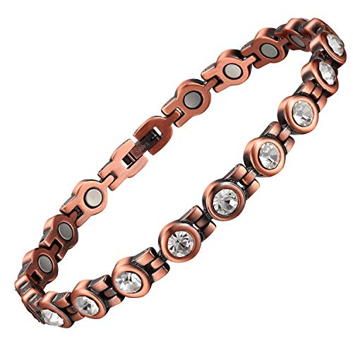 Copper Ankle Bracelets Crystal Anklet for Women Arthritis Pain Relief