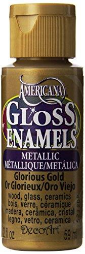 Americana 2-oz. Glorious Gold Gloss Enamel Paint