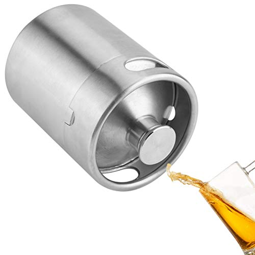 Mini fût de bière en acier inoxydable avec double poignée pour maison, camping, pique-nique