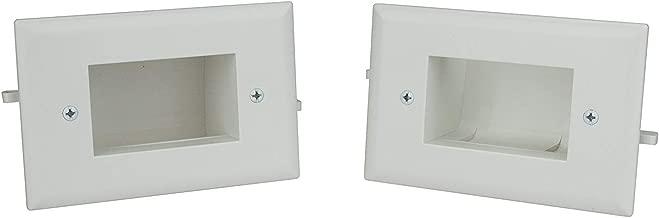 DataComm Electronics 50-3338-WH-KIT Easy Mount Cable Organizer Kit - White