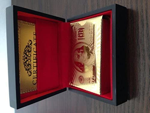 mejor reputación 24k oro Plated Playing Cards Full Poker Deck Deck Deck 99.9% Pure with Wood Box by oroCardz   barato en línea