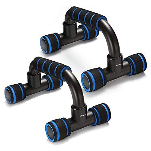 Adkwse Lot de 2 poignées pour pompes - Antidérapantes - Pour l'entraînement musculaire et la musculation, Adulte (unisexe), bleu