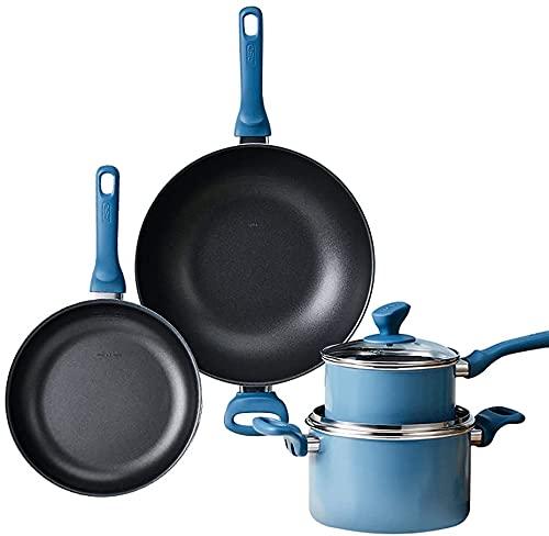 Wok sartenes antiadherentes sarten antiadherente wok induccion cacerola bra cacerolas de cocina Sartén para el hogar, wok,...