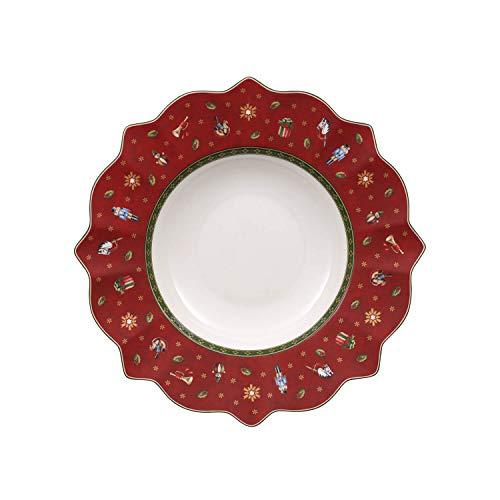Villeroy & Boch Toy's Delight Assiette creuse rouge, 26 cm, Porcelaine Premium