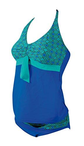 Zoggs Damen Fairhaven Schwangerschafts-Tankini, Damen, Fairhaven Maternity, blau