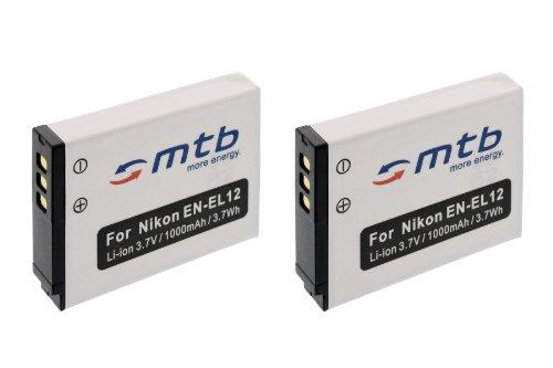 2x Batteria EN-EL12 per Nikon Coolpix S9100, S9200, S9300, S9400, S9500.+ vedi lista!