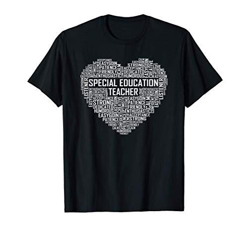 Regalos de Corazón de Profesores Educación Especial Regalo Camiseta