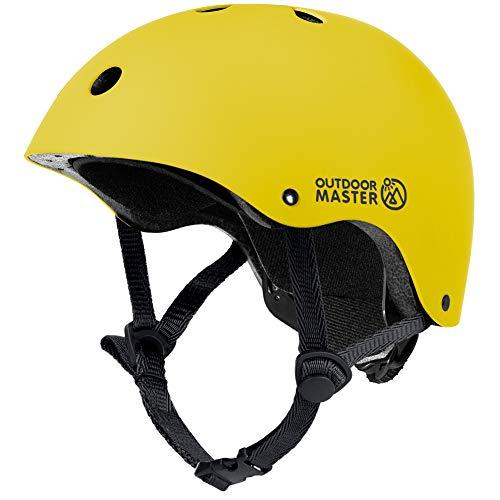 OUTDOORMASTER子供用自転車ヘルメットこどもヘルメット幼児子供スポーツヘルメットCPSC安全規格ASTM安全規格軽量通気性3D保護クッション置換クッションおまけ取り出し可能洗濯可能全方位調整アジャスターサイクリング通学スケートボード運動アイススケート女の子男の子6ケ月保証