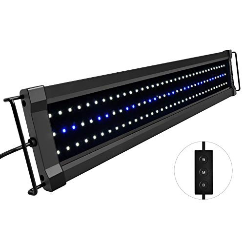 NICREW ClassicLED G2 Aquarium Beleuchtung, Steuerbar LED Lampe mit Mondlicht, IP67 Wasserdicht für Süßwasser-Aquarien, 60-80cm