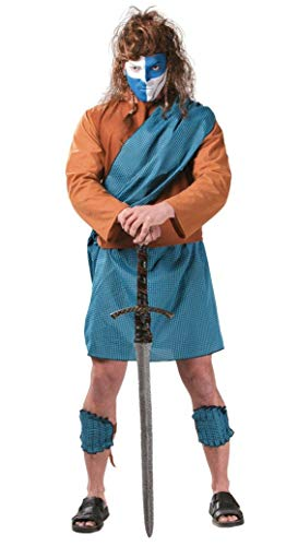 Disfraz de escocés valiente azul - Estándar